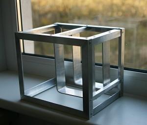 Aliuminio kampuočių rėmas NAS dėžei