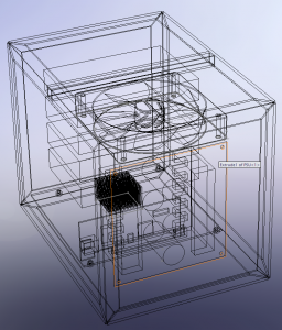 Wireframe image of NAS box