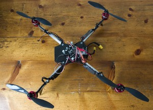 Quad - view from above, one ESC fried already