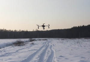 Quad flying at -17°C (2012.02.04)