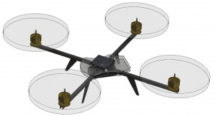 RealView Solidworks image - QuadRotor