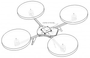 Wireframe Quadrotor drawing