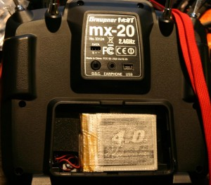1S2P pack inside Graupner MX-20