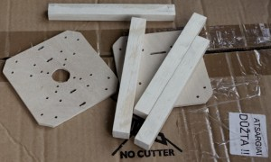 Supersimple quad - parts cut ant ready to assemble