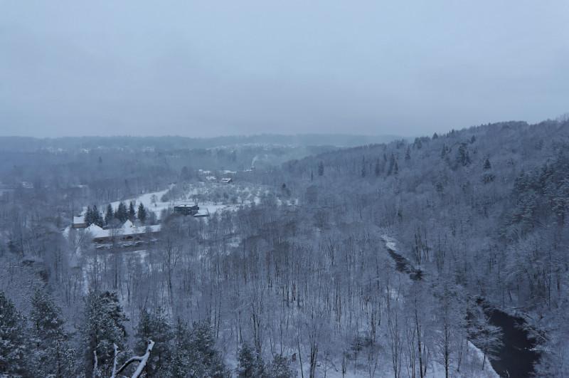 Nuošliauža, žiema, pirmas sniegas